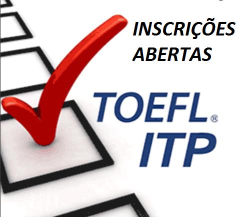 Notícia: Inscrições para TOEFL ITP