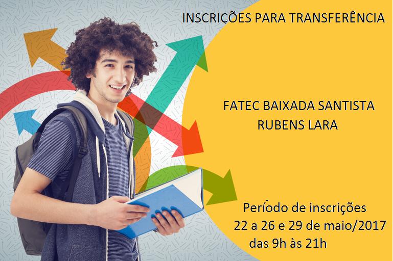 Imagem: INSCRIÇÕES PARA TRANSFERÊNCIA