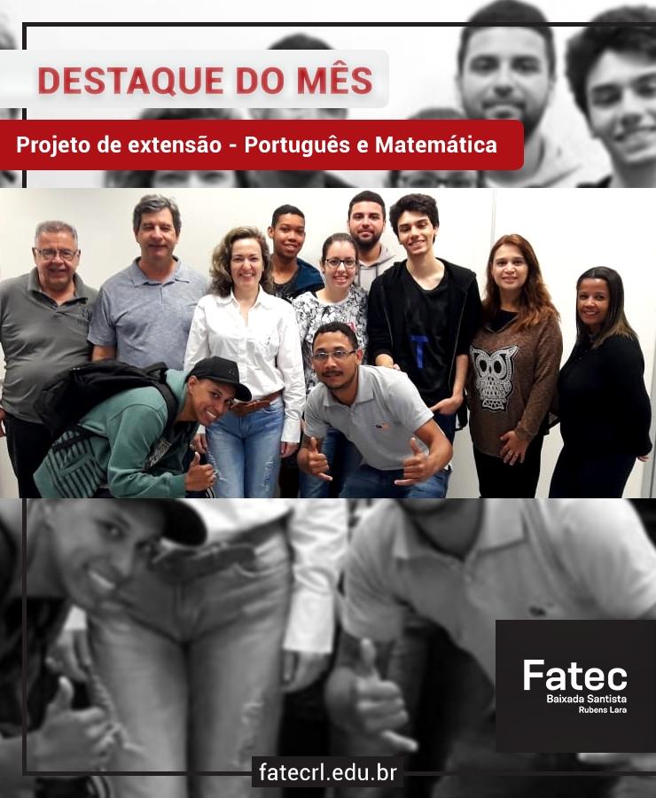 Cursos de extensão de português e matemática na FA