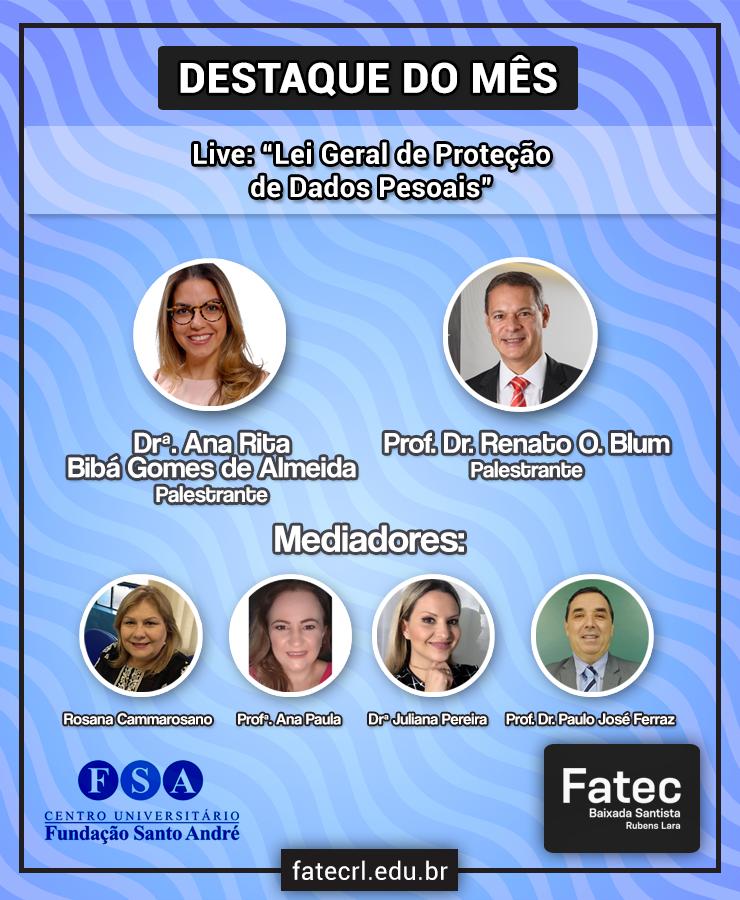 Fatec-RL promove live sobre a Lei Geral de Proteçã