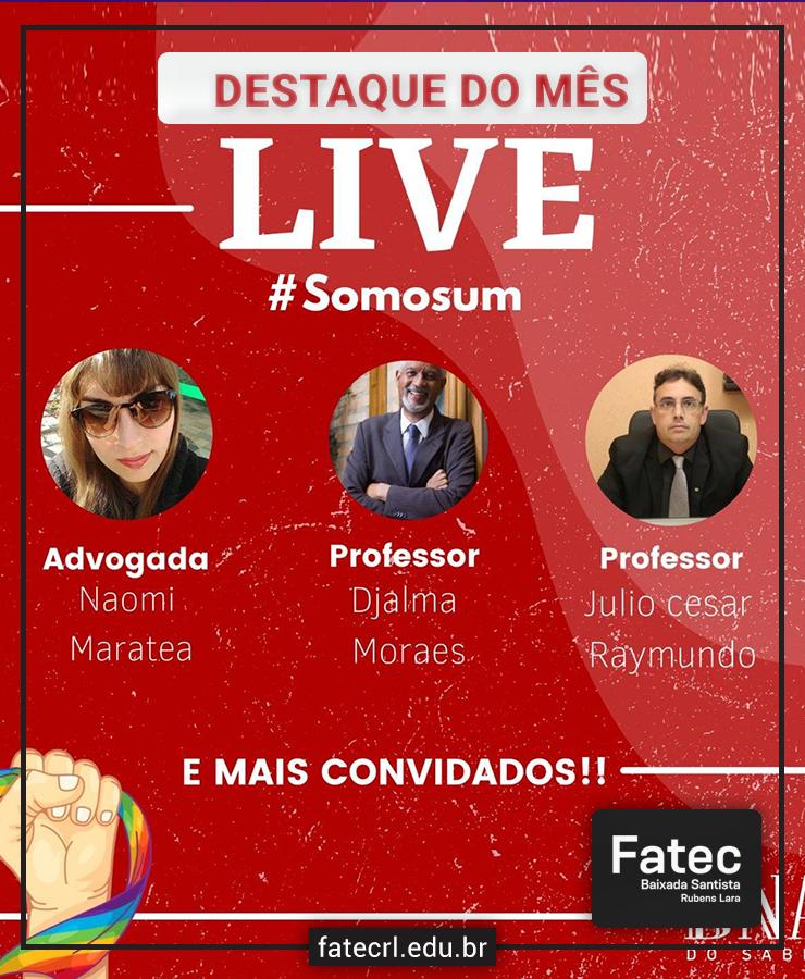 Fatec-RL promove a live #Somosum